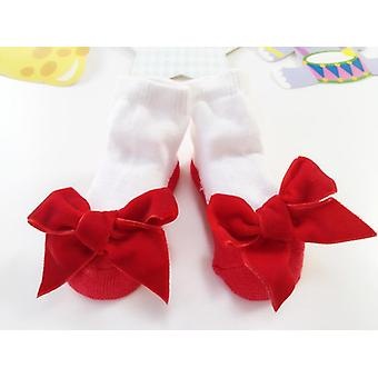 Winter Bowknot Baby Socks, Cotton Spring Socks