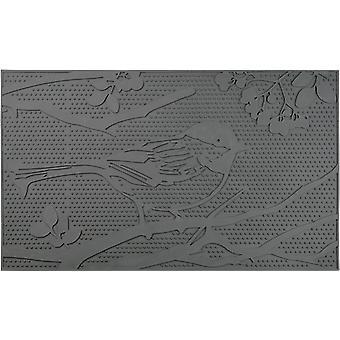 door mat 45 x 75 x 0.8 cm rubber/PVC black