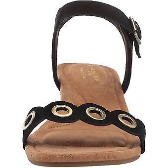 Koolaburra by UGG Women's Leira Heeled Sandal, Black, 05 B US