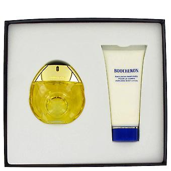 BOUCHERON by Boucheron Gift Set -- 1.7 oz Eau De Toilette Spray + 3.4 oz Body Lotion + Purse