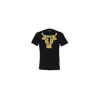 Versace Jeans Couture Printed Logo Black/gold T-shirt