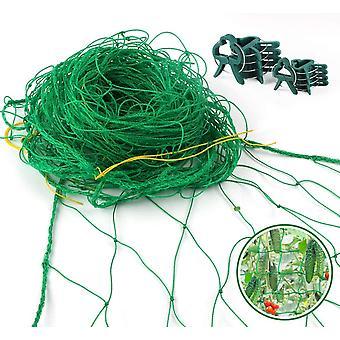 FengChun 3,5 x 2m Premium Ranknetz Verdickung Ranknetz mit groer Maschenweite und 10 STK