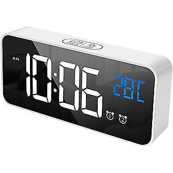 FengChun Digital Wecker, Groe LED Temperaturanzeige, USB Wiederaufladbar, 2 Alarmen, Snooze