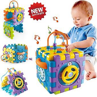 FengChun Babyspielzeug 6-18 Monate Baby-Aktivitt Wrfelspielzeug, 6 in 1 Mehrzweck Spielzentrum mit