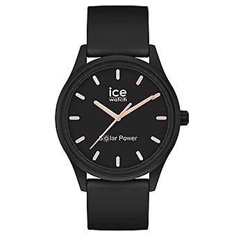 Ice-Watch - ICE aurinkovoima Musta ruusukulta - Naisten musta kello silikonihihnalla - 018476 (Pieni)