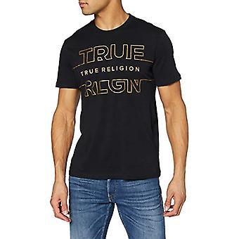True Religion RLGN Crew Neck Tee T-Shirt, Black, M Men's