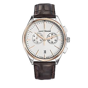 Saint Honore Men's Quartz Analog Watch with Leather Strap 8850176AIR
