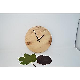 Holz Wanduhr Holzuhr Uhr Baumscheibenuhr 22 cm Made in Austria Uhr Zirbe Pinus Cembra Uhr wallclock clock Geschenk Geschenkidee Holzdeko Dekoration Deko Holzdekoration
