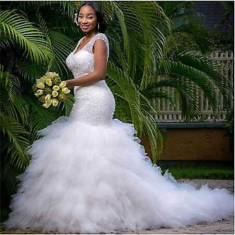 African Style Mermaid Wedding Dress