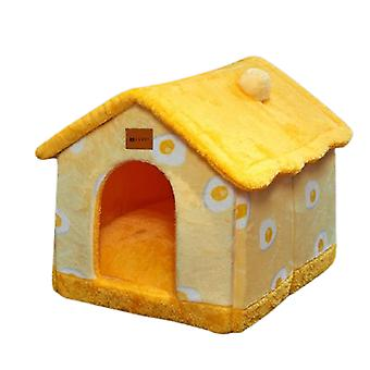 Foldable dog house kennel bed