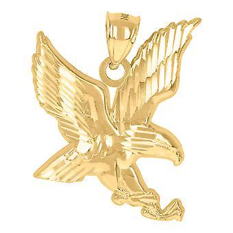 10k צהוב זהב גברים ציפור ציפור ציפור פטריוטיות קסם תליון שרשרת מתנות לגברים