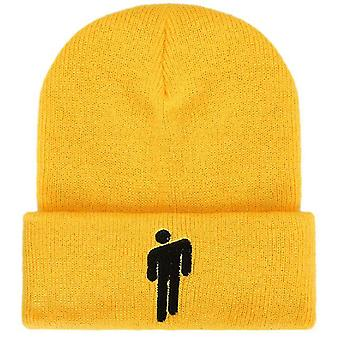 Žltá vhodná pre jesenné a zimné pletené klobúky hatswoolen hatseuropean a americkí muži x2877