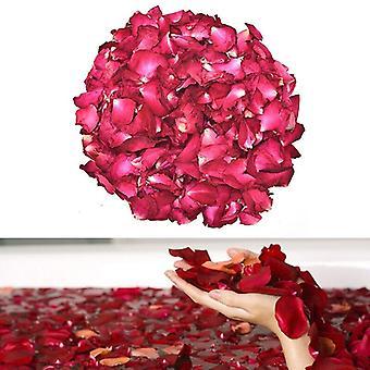 Keinotekoinen silkki punainen ruusu terälehtien koristeet