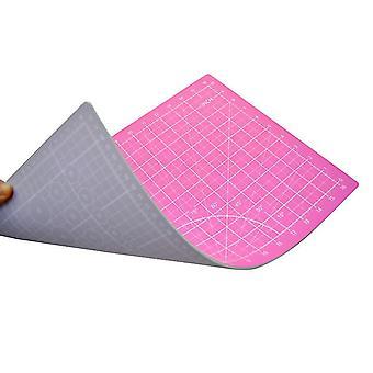 45*30Cm pink+light purple cutting pad a3 double-sided cutting pad 45 * 30cm non-slip medium knife pad out of grid board pvc cutting pad az22215