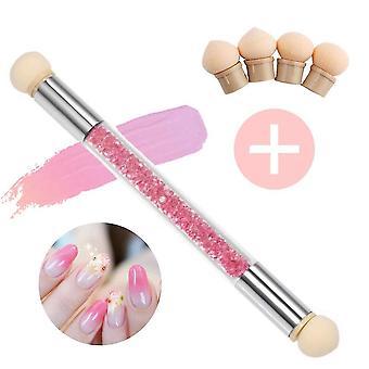 Nail art rendering tools sponge brush double head sponge stick dt6334