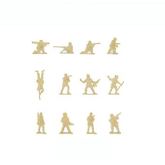 New 50pcs Army Figures Battlefield 5cm Military Soldiers Yellow ES12831