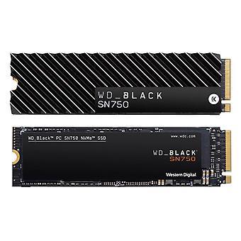 WD Black 500GB SN750 M.2 2280 NVME PCI-E Gen3 Solid State Drive Includes Heatsink (WDS500G3XHC)
