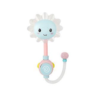 15X38.5cm sky-blue 1pc bath toy sunflower water shower spray hot tub fountain toy water toy (sky-blue) dt3013