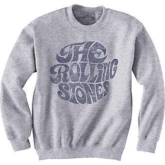 Rolling Stones - The - Vintage 70s Logo Unisex Small Sweatshirt - Grey