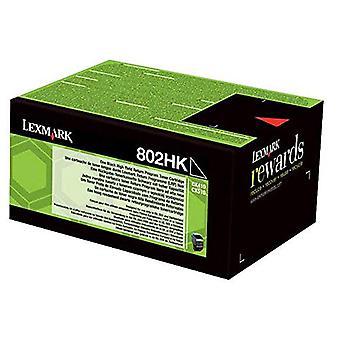 Lexmark 802HK - High Yield - black - original - toner cartridge - LCCP, LRP