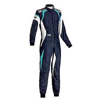 سباق jumpsuit OMP واحد ايفو الأزرق / الأبيض (حجم 54)