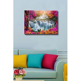 Kanvas Tablo (50 x 70) - 184 flerfärgade dekorativa dukmålning