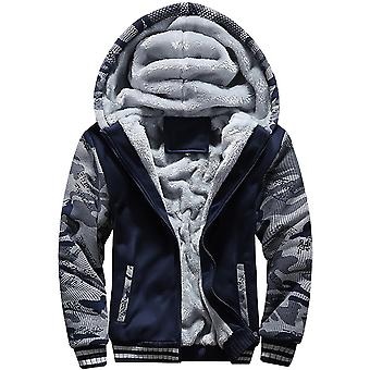 Sweat-shirt Casual Zipper Loose Fit Pour Homme's Velvet Thick Hooded