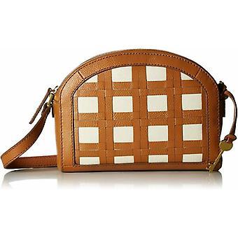 Fossil Chelsea Crossbody Tan Leather Lattice Shoulder Bag ZB7739231