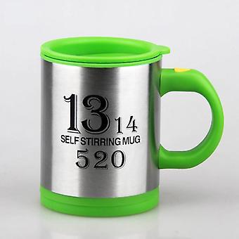 400Ml Automatic Electric Lazy Self Stirring Mug Automatic Coffee Milk Mixing(green)