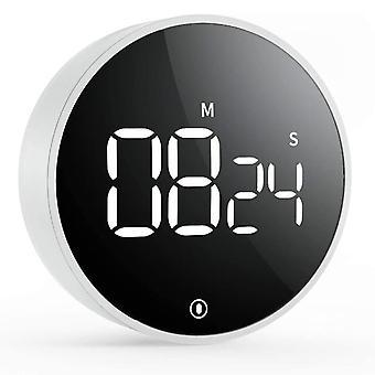Magneettinen LED Digitaalinen ajastin Elektroninen Lähtölaskenta Herätyskello Keittiöajastimet (musta)