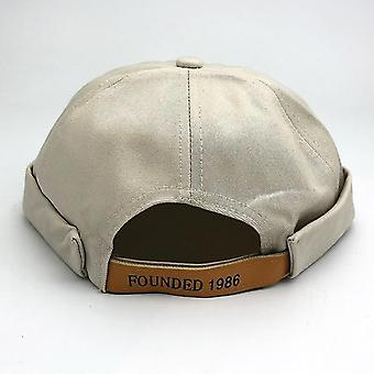 Streetwear Brimless Beanie Hip Hop Skullcap Docker Melon Sailor Short Cap (Regolabile56-60cm)