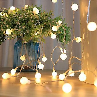 LED-Lichterkette, wasserdicht, tragbar, 5,5 m, 50 Stück, Globus-Lichterkette mit Fernbedienung, für