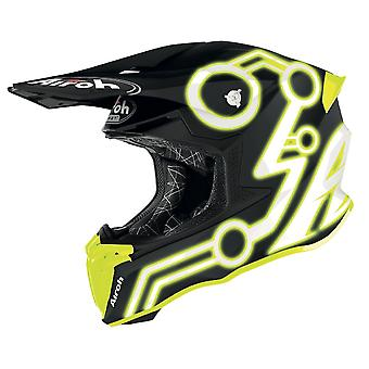 Airoh Twist 2.0 Neon Off Road Motocross ATV Helmet Yellow Matt
