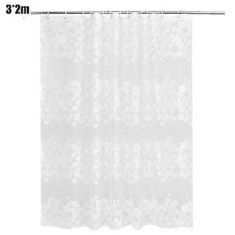 (3*2m) European style Peva Waterproof Mould Resistant Shower Bathroom Curtain