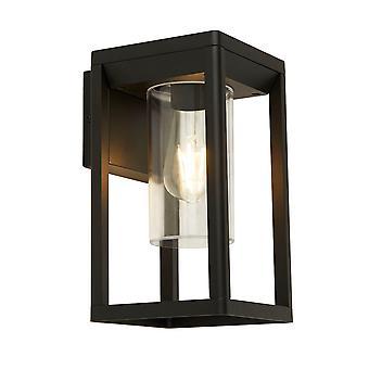 Searchlight 1Lt Utomhus vägg lght, svart med klar diffusor