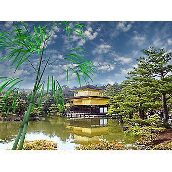 Mural de papel de parede Templo Budista Zen em Kyoto