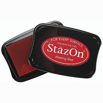 StazOn Solvent Ink Pad - Blazing Red