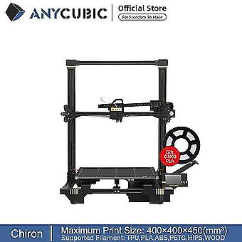 Anycubic chiron stampante 3d di grandi dimensioni 400x400x450mm³ estrusore doppio asse z fdm stampanti 3d pla