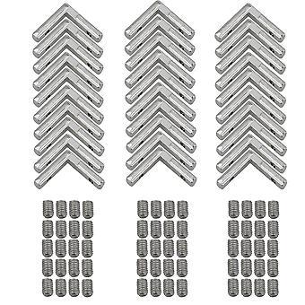 Kiinnikkeiden vahviketuet 30x l muodon kulmaliitoskiinnike 2020 sarjan alumiiniprofiili hopea