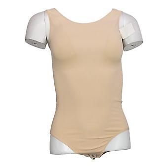 yummie Shaper M/L Bodysuit sem mangas w/snaps Bege 607672