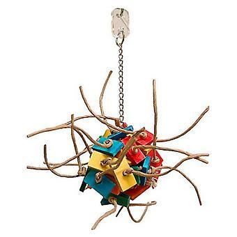 """Zoo-Max Fire Ball Bird Toy - Small 12""""L x 9""""W"""
