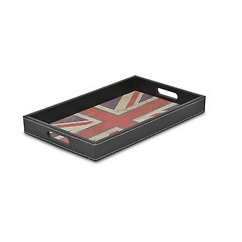 Union Jack Faux Leather Serving Tray