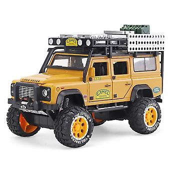 Toy cars 1:28 alloy model camel defender metal toys yellow