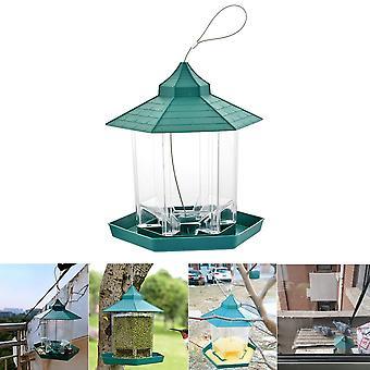 Mangeoires à oiseaux gazebo suspendues vertes