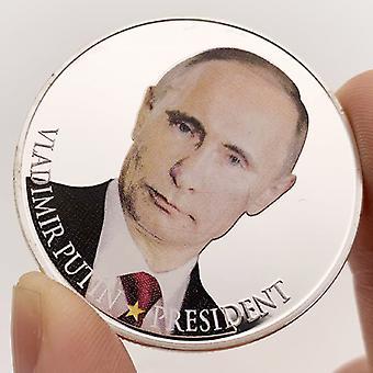 Le président russe Vladimir Poutine et la collection commémorative de pièces de monnaie du château de Crimée Pièce de caractère