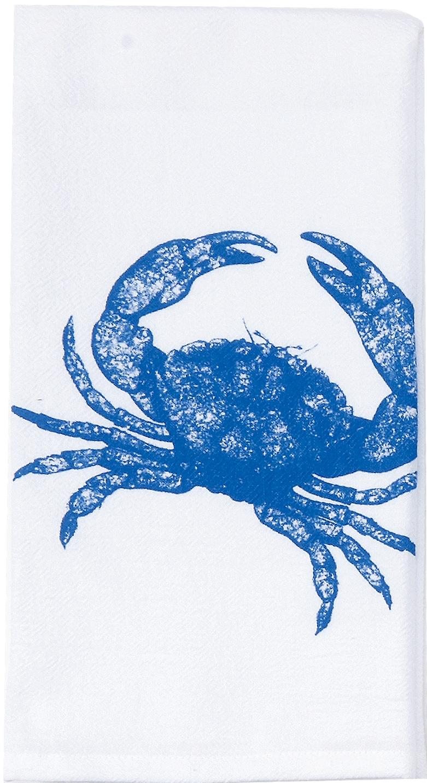 Kay Dee Blue Crab Printed Flour Sack 27 Inch Kitchen Dish Towel