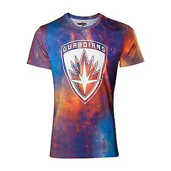 Guardians Vol 2 All-Over Galaxy T-Shirt - Multi-Colour XL Size (TS571037GOG-XL)