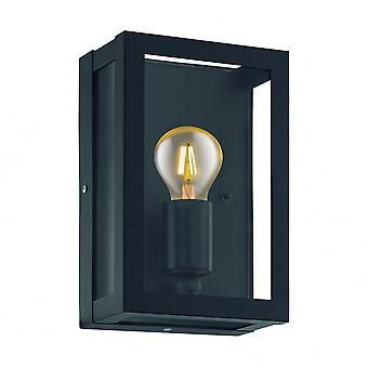 Eglo Alamonte1 1 Light IP44 Wall Light Black