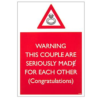 Brainbox Candy Mad For Each Other Warning Card