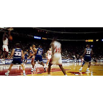 Basketball match in progress Chicago Bulls Chicago Stadium Chicago Cook County Illinois USA Poster Print by Panoramic Images